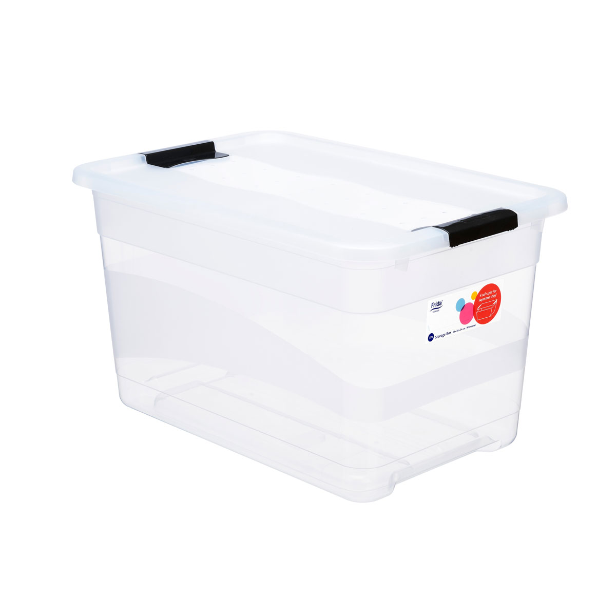 Storage back with lid